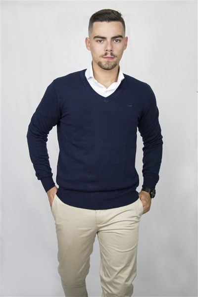 SWEATERVNECK-W20 (15NAVY)