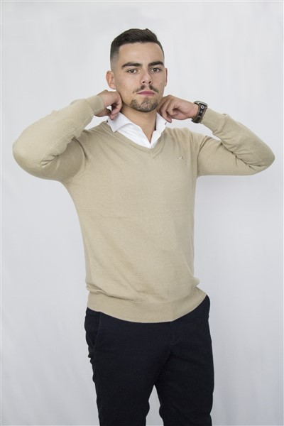 SWEATERVNECK-W20 (21LTBROWN)